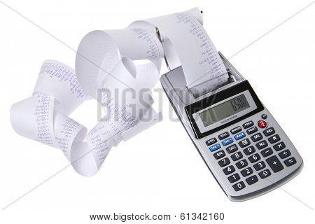 Calculator with Receipt