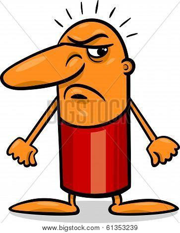 Angry Guy Cartoon Illustration