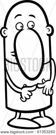 Shy Guy Cartoon Coloring Page