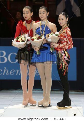 Medaljörer i damer enda skridskor