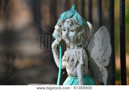 A statue at a cemetery in Austin