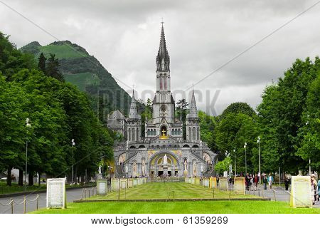 Cathedral in Lourdes, France.