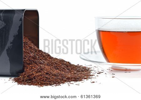 Rooibos In A Tin And Cup.