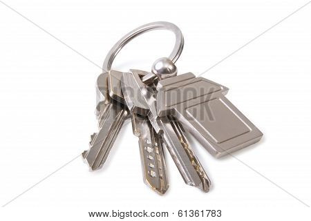 Three Key And Keychain
