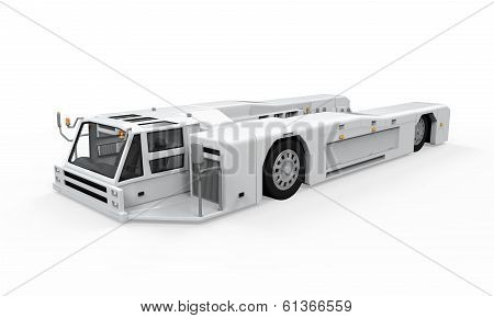 Airport Tow Truck isolated on white background. 3D render poster