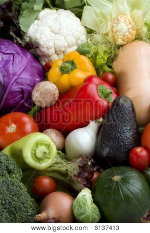 Vegetables Background Variety