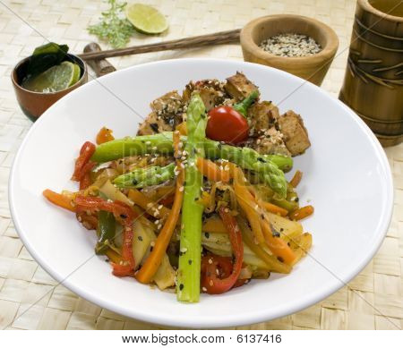 Vegetarian Dish With Clipping Path