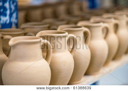 Close-up View Of Ceramic Dishware