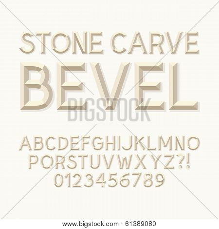 Abstract Stone Carve Alphabet