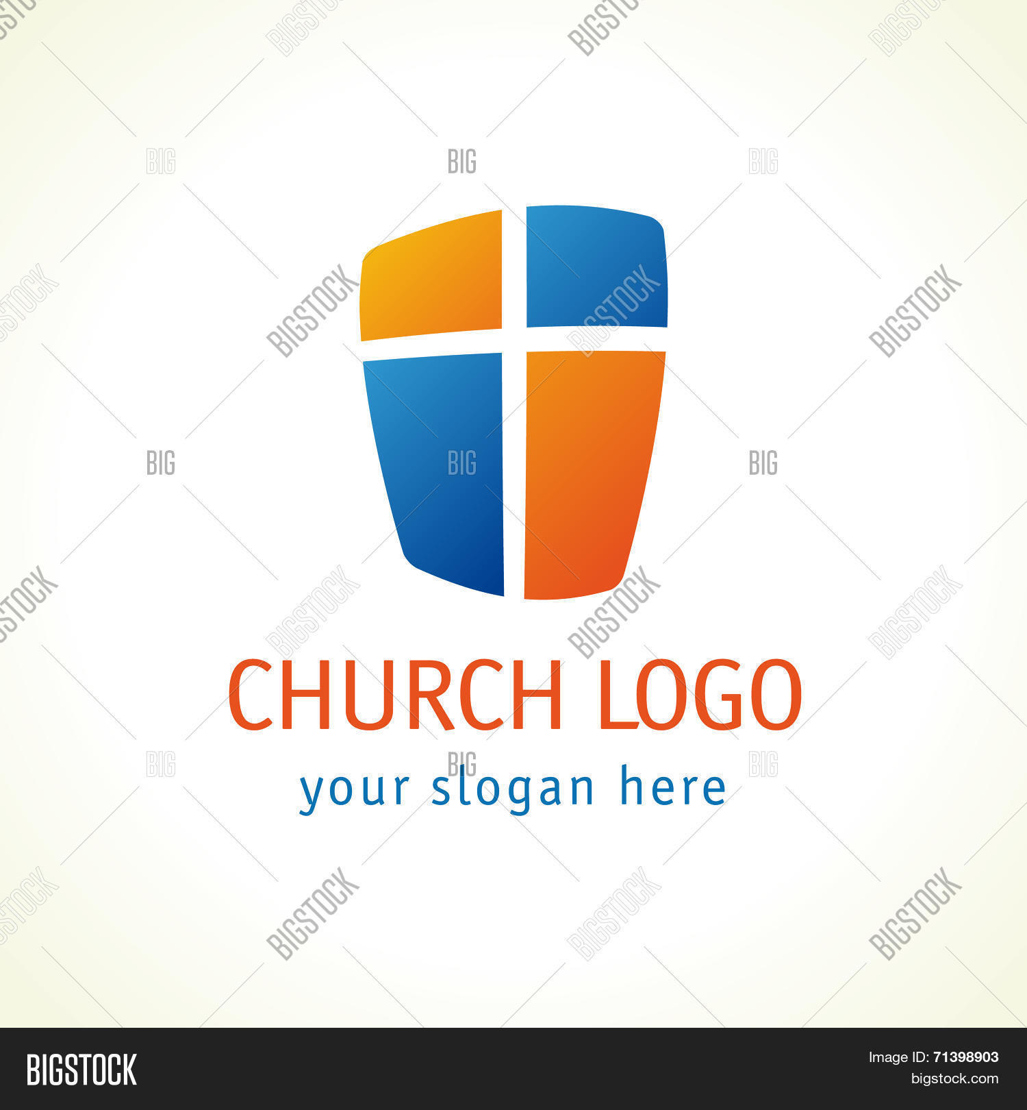 Cross Shield Faith Vector Photo Free Trial Bigstock