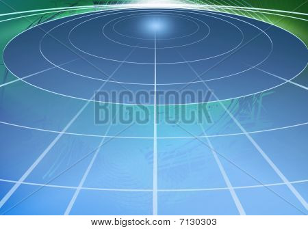Abstract Circle Of Light In Space