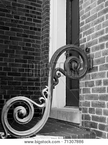 Architecture detail iron scrollwork