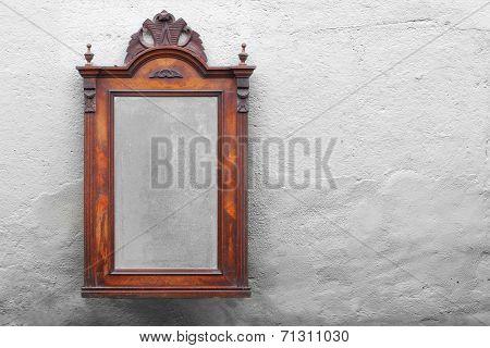 Vintage mirror on the wall. Picture with space for your text.