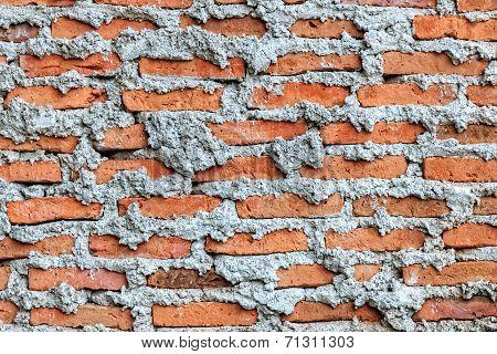 Unfinished Brick Wall, Close Up