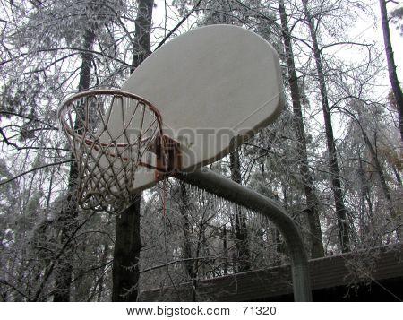 Frozen Basketball Goal