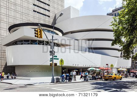 Facade Of The Guggenheim Museum
