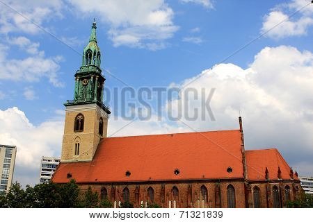 St. Mary's Church, (Marienkirche) is a church in a central Berlin, Germany poster