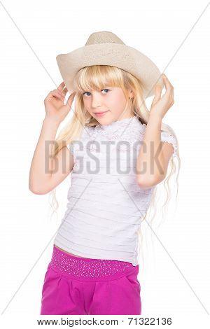 Portrait Of Nice Little Blond