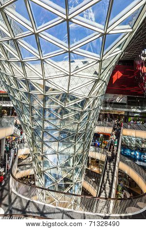 People Visit And Shop Inside The Myzeil Center