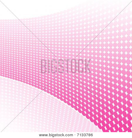 Abstract dotted retro designed background with reflection poster