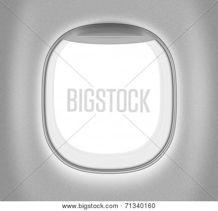 Aeroplane or jet black and white window
