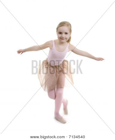 Little Girl Showing Ballet Exsercise