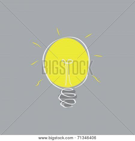 Doodling Light Bulb