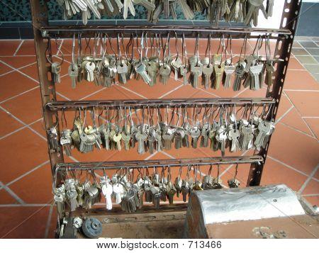 Locksmith Work Station - Rows Of Keys