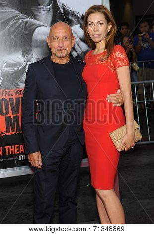LOS ANGELES - AUG 13:  Sir Ben Kingsley arrives to the