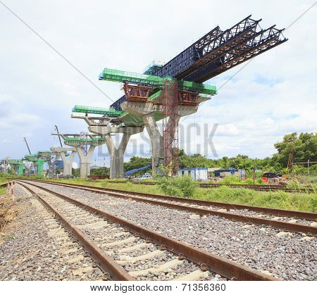 Railways And Sky Train Structure Construction Use For Government Service And Infra Structure ,urban
