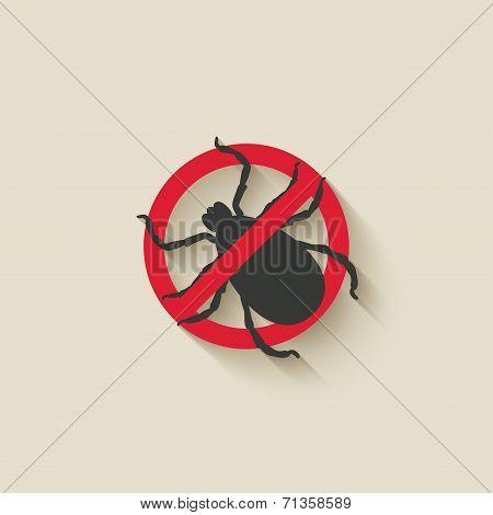 mite warning sign