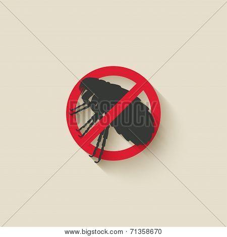 flea warning sign