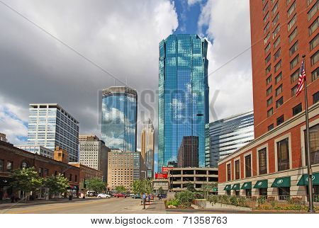 The Skyline Of Minneapolis, Minnesota Along S Marquette Avenue
