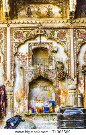 Beautiful Old Haveli In Mandawa, Rajasthan, India