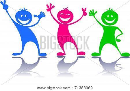 Happy people,children