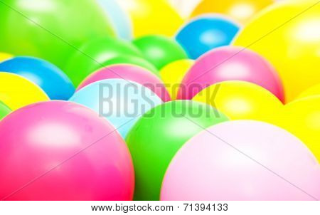 Bright Multicolor Balloon Closeup