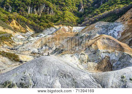 Noboribetsu, Japan at Hell Valley.
