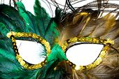 Carnival Mask from feathers of a peacock poster