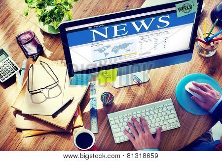 Digital Online Global News Update Concept