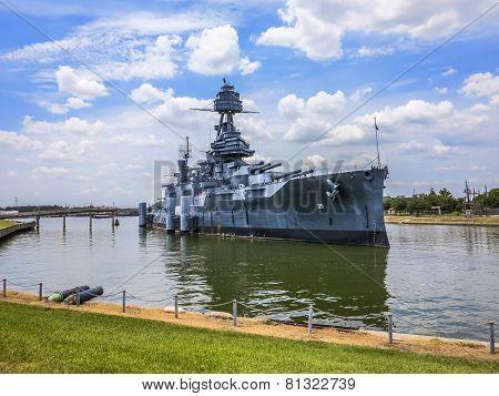 Famous Dreadnought Battleship Texas