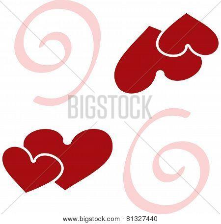 valentine seamless hearts pattern