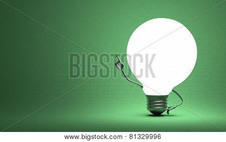??globe Light Bulb Character In Aha Moment