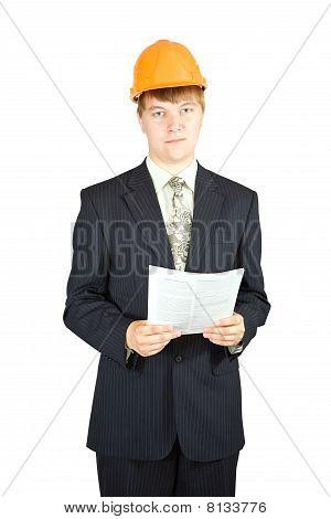 Portrait Of Businessman In Hardhat