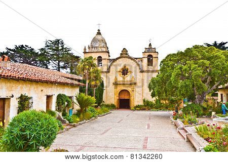 CARMEL, USA - JUNE 7, 2011:  Carmel Mission from the early days of missionary in america.