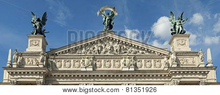 pediment Lviv Opera House