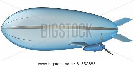Blimp On White Background