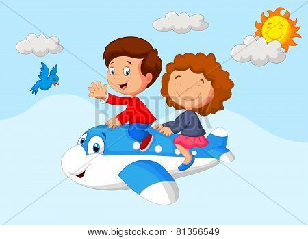 Kids cartoon Going on a Joyride in a Mini Plane