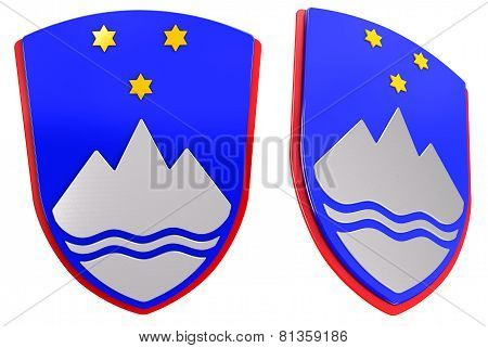 3D Slovene coat of arms