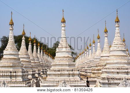 Kuthodaw Pagoda, The World's Largest Book, In Mandalay, Myanmar