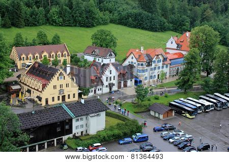 Hohenschwangau village streets